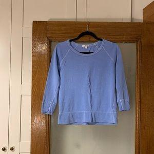 JAMES PERSE Blue Cotton Sweatshirt